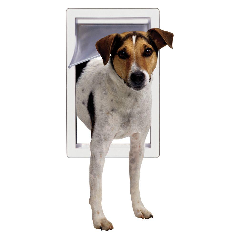 Perfect Pet Door Mount Pet Door Size Medium White