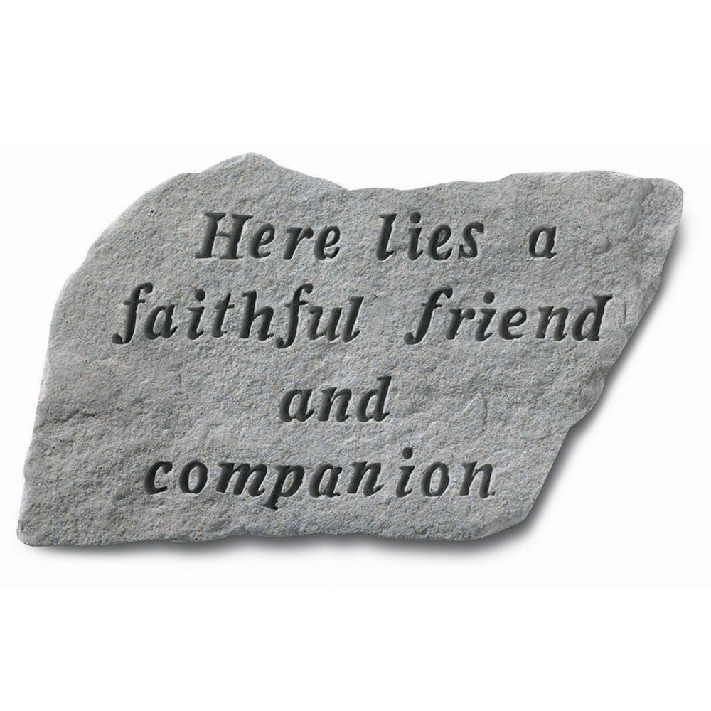 Kay Berry Faithful Friend Pet Memorial Stone