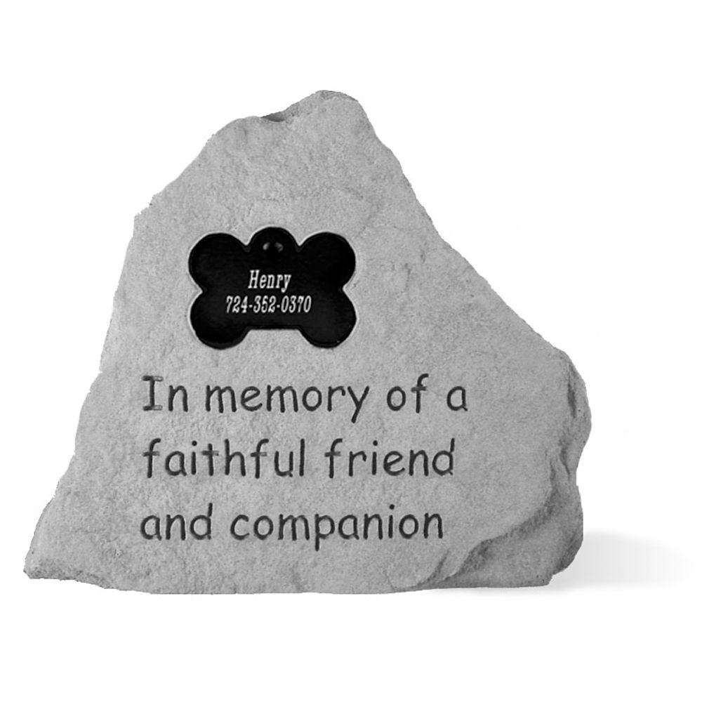 Kay Berry In Memory Bone Tag Personalized Pet Memorial Stone