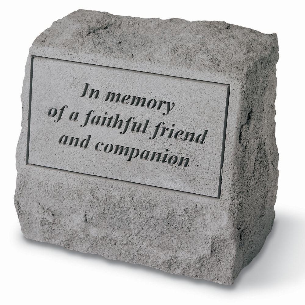 Kay Berry Faithful Friend Pet Headstone