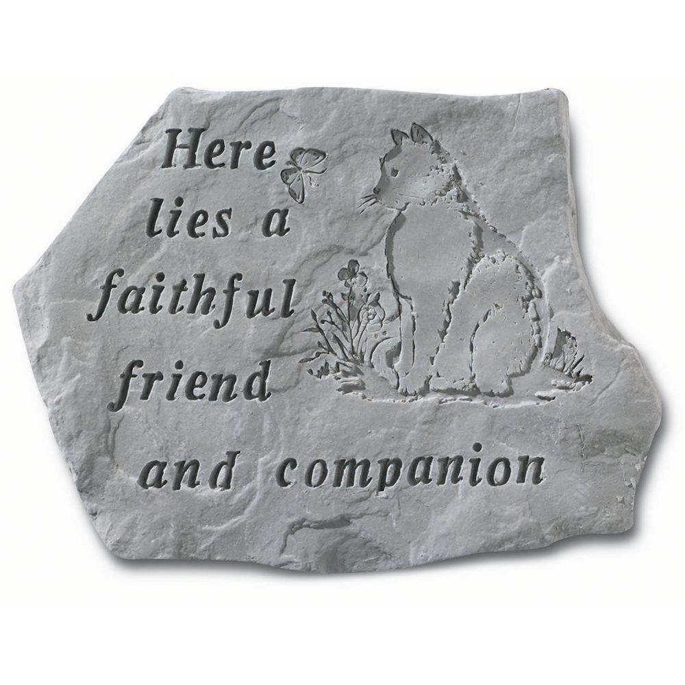 Kay Berry Faithful Friend Cat Memorial Stone