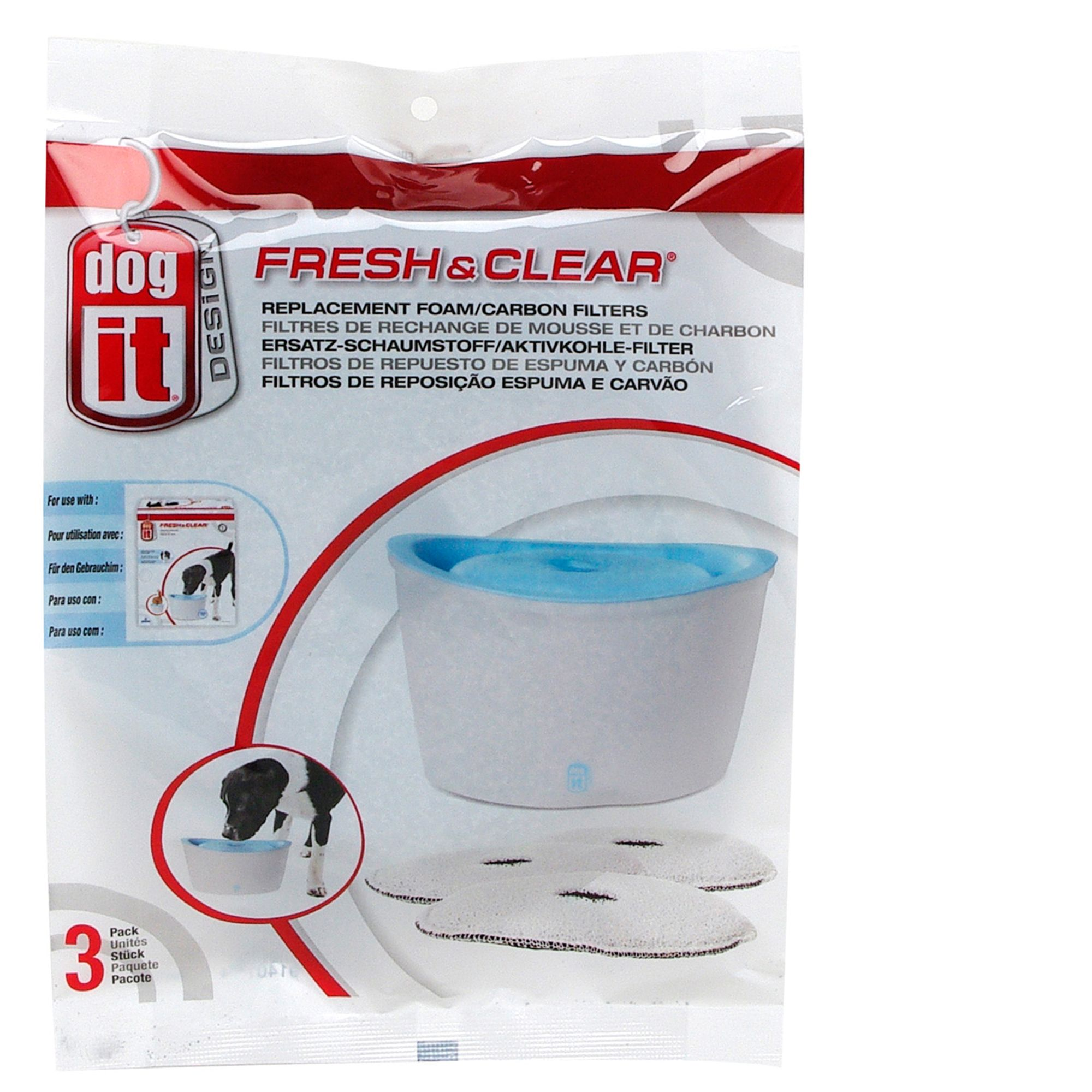 Dogit Design Fresh And Clear Pet Fountain Carbon Replacement Filters 5170393