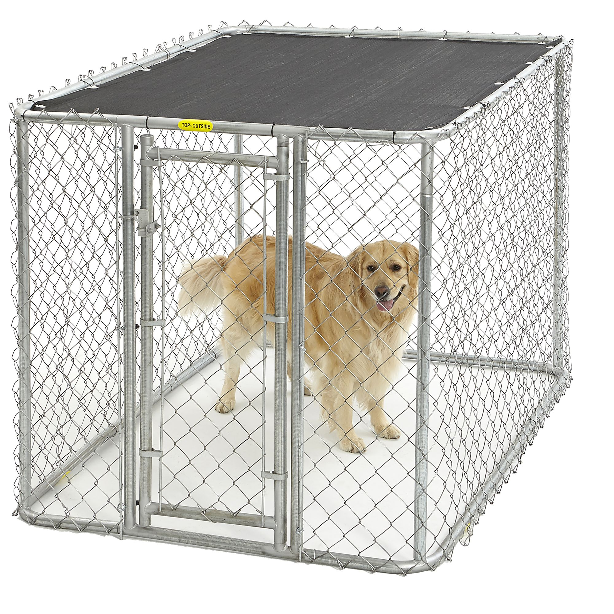 Midwest Chain Link Portable Kennel With Sunscreen Size 6l X 4w X 4h