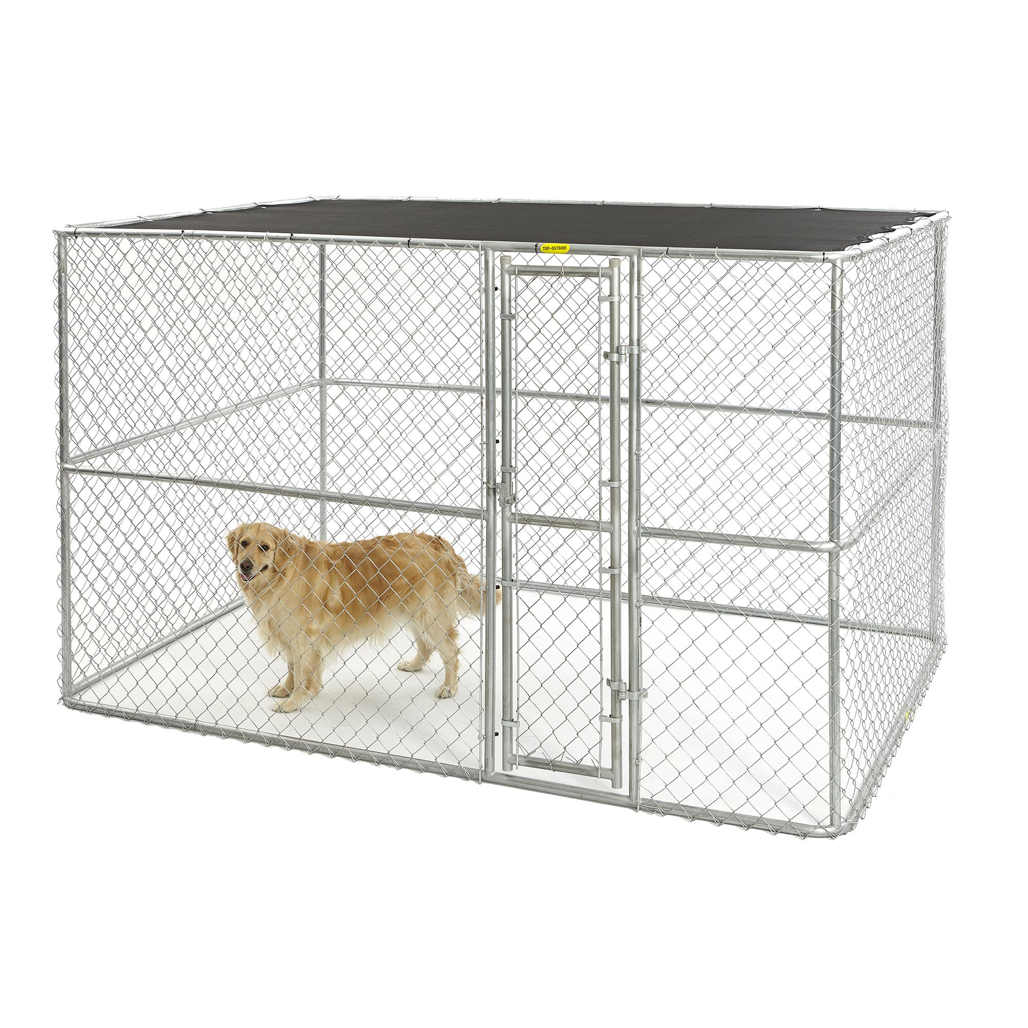 Midwest Chain Link Portable Kennel With Sunscreen Size 10l X 6w X 6h