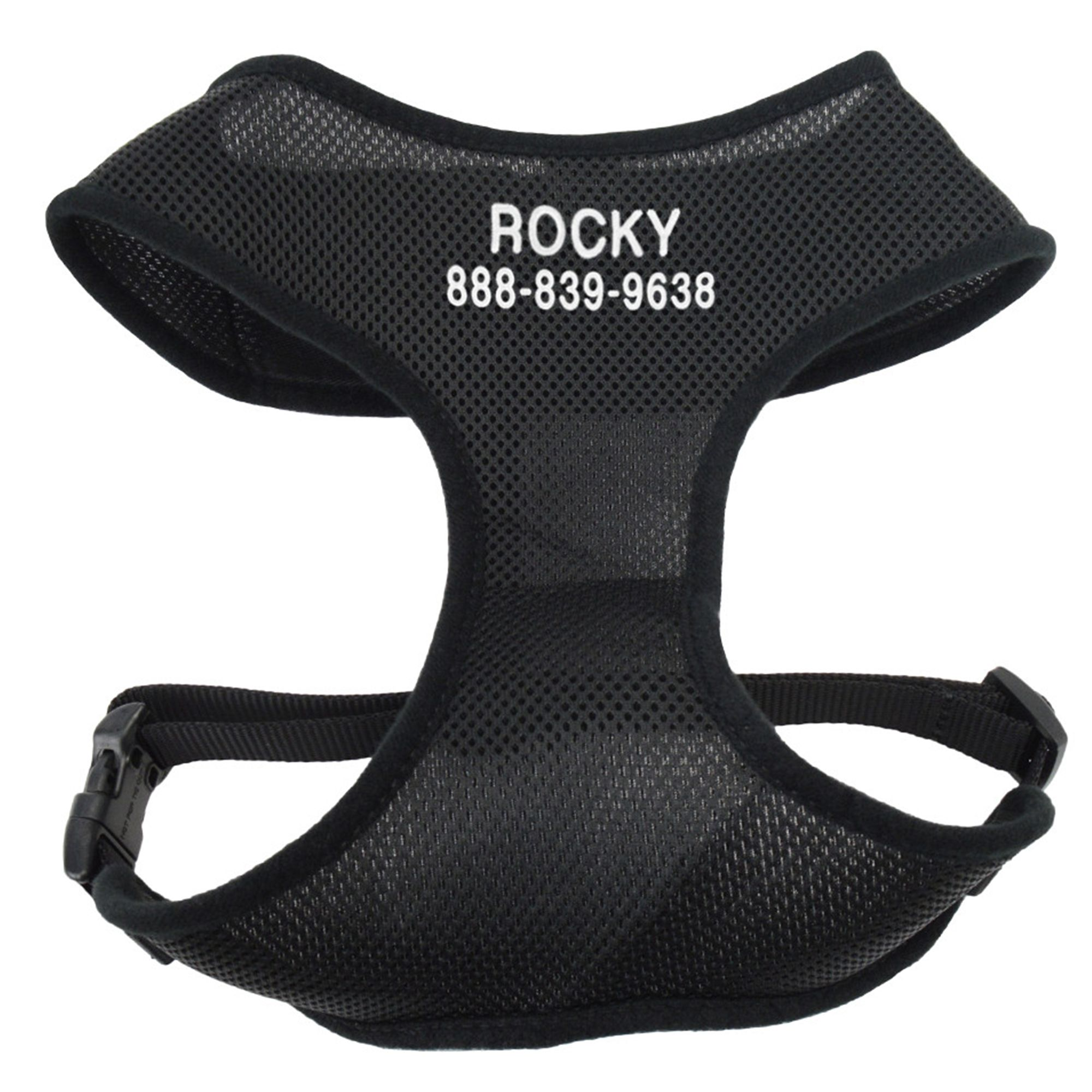 Coastal Pet Products Personalized Comfort Soft Extra Small Dog Harness, Black 5171603