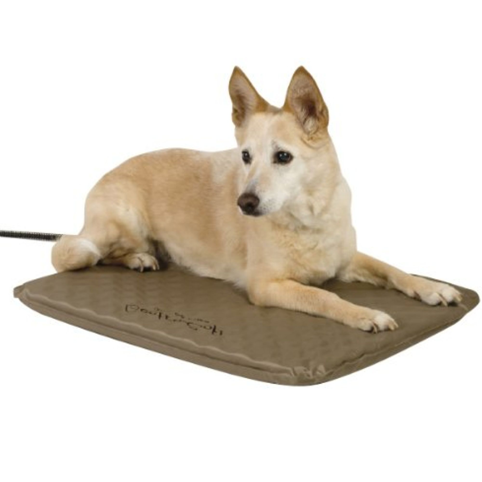 Kandh Lectro Soft Heated Outdoor Pet Bed Size 19l X 24w Brown K H