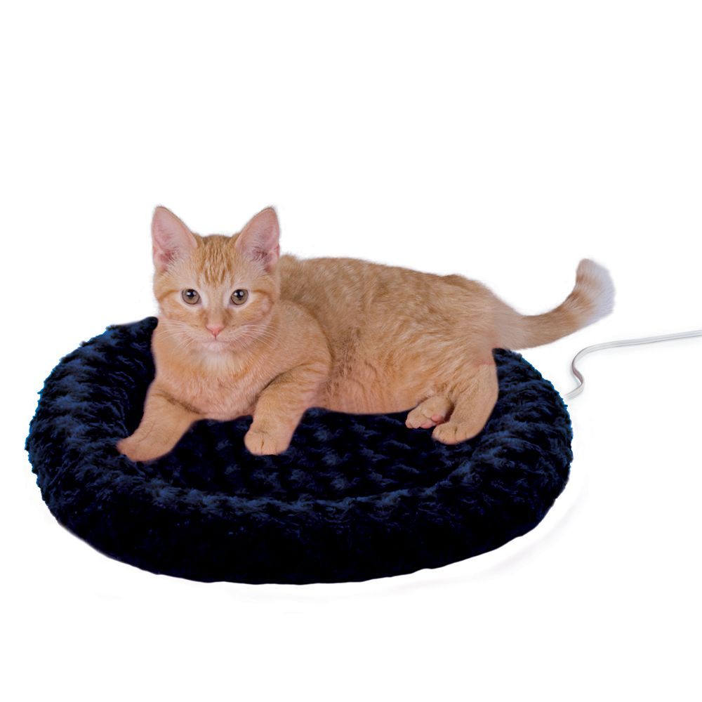 "Thermo-Kitty Bed, Heated Cat Bed size: 18""L x 18""W x 3""H, Blue, K & H"