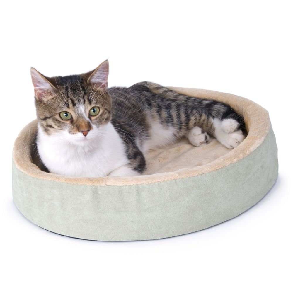 Thermo Kitty Bed Cuddle Up Heated Cat Bed Size 16l X 16w Green K H