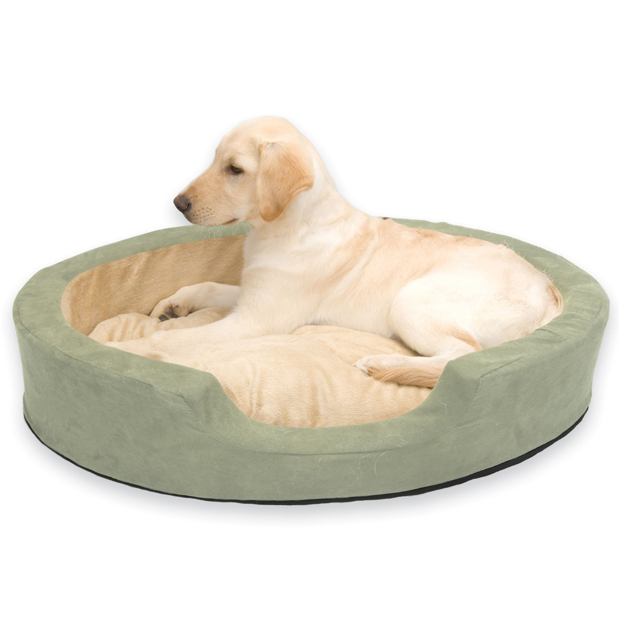 Kandh Pet Heated Thermo Snuggly Sleeper Pet Bed Size 31l X 24w Green K H