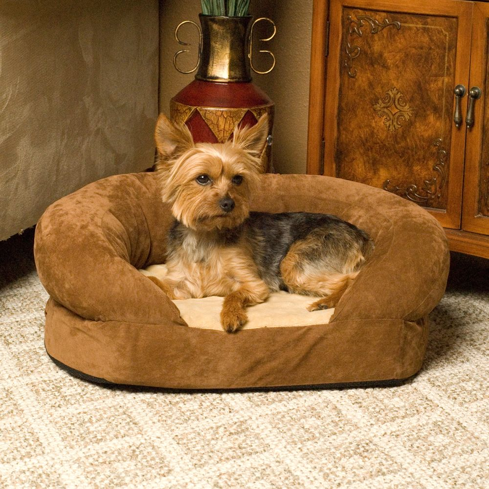 "KandH Ortho Bolster Sleeper Pet Bed size: 40""L x 33""W x 9.5""H, Brown, K & H"
