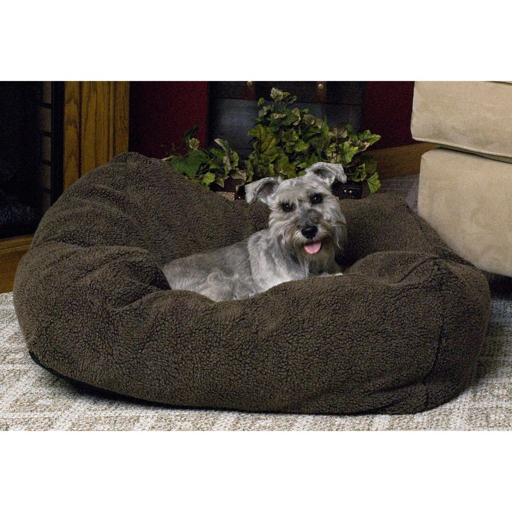 "KandH Cuddle Cube Pet Bed size: 28""L x 28""W, Brown, K & H"