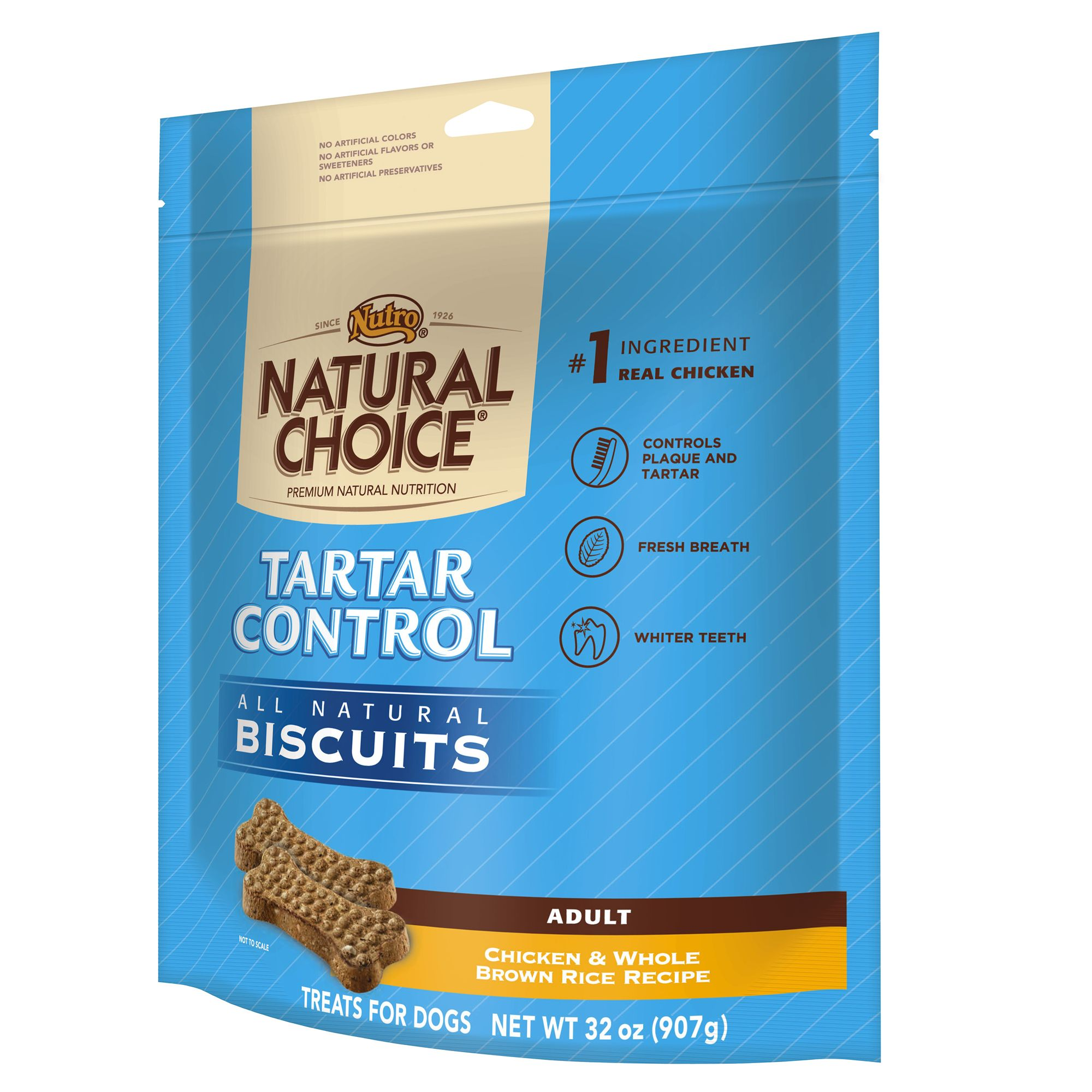 Nutro Natural Choice Tartar Control Adult Dog Biscuit Size 32 Oz
