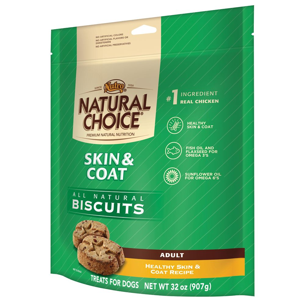 Nutro Natural Choice Skin And Coat Adult Dog Biscuit Size 32 Oz