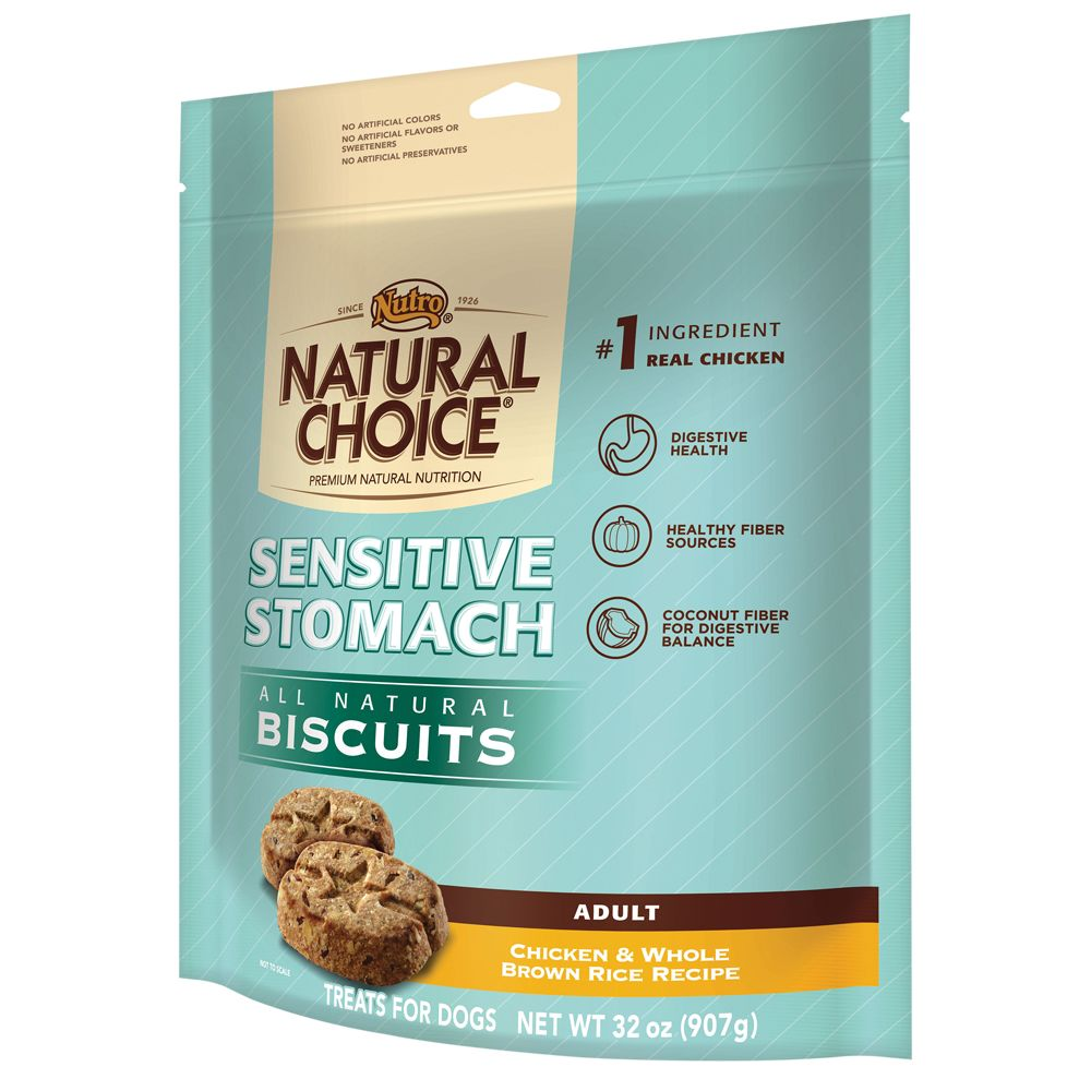 Nutro Natural Choice Sensitive Stomach Adult Dog Biscuit Size 32 Oz
