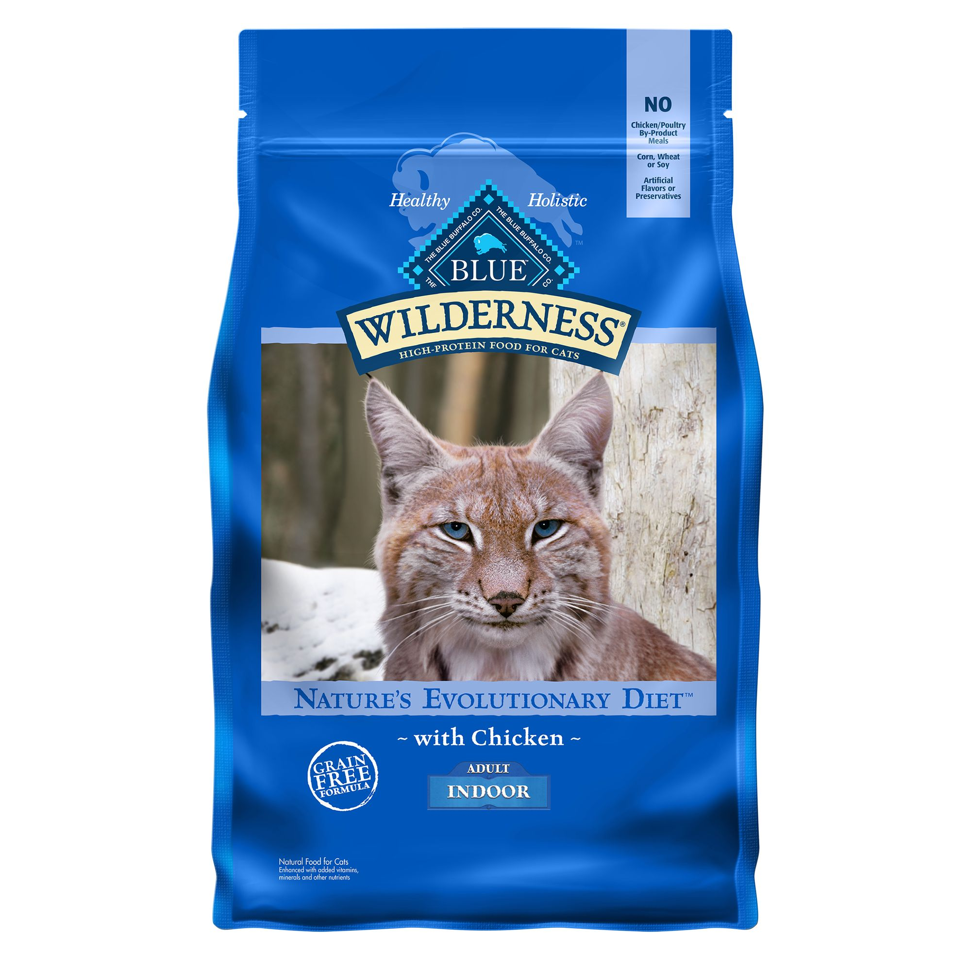 Blue Wilderness® Indoor Adult Cat Food - Grain Free, Nat