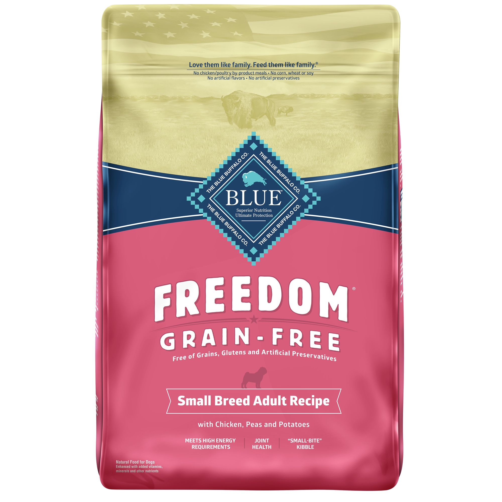 Sad Freedom Grain Free Chicken Small Breed Adult Dog Food size: 11 Lb, Blue Buffalo