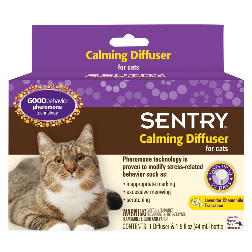 Sentry Good Behavior Lavender Chamomile Cat Calming Diffuser