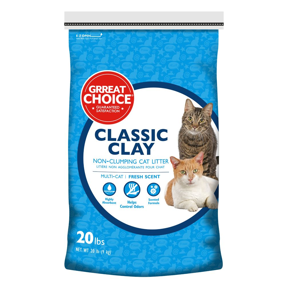 Grreat Choice Scented Cat Litter Size 20 Lb