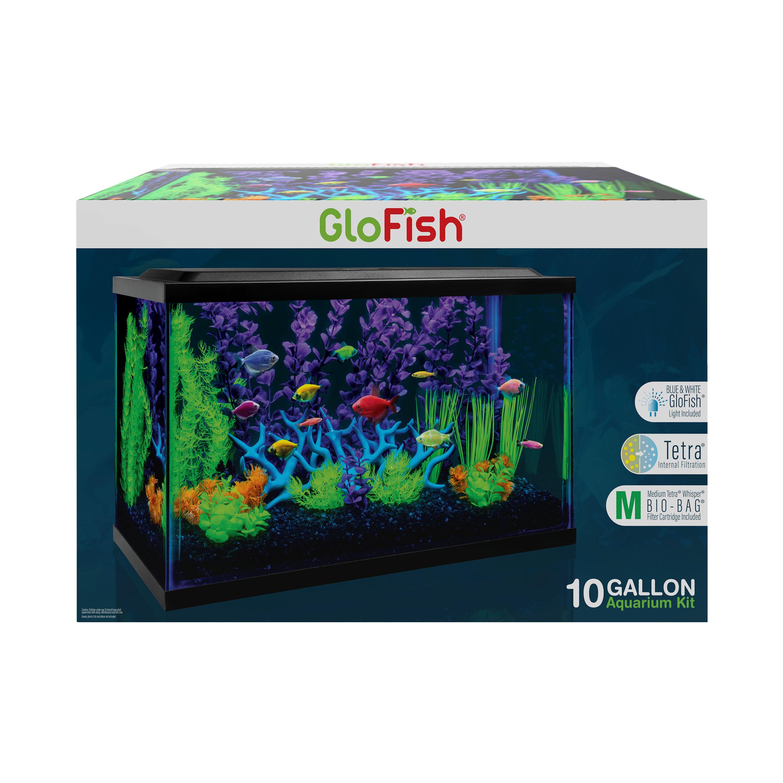 Glofish 10 Gallon Aquarium Kit Size 10 Gal