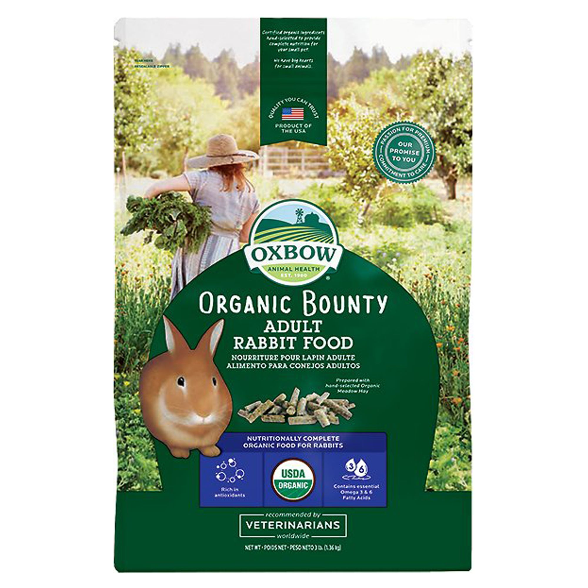 Oxbow Bene Terra Organic Rabbit Food Size 3 Lb