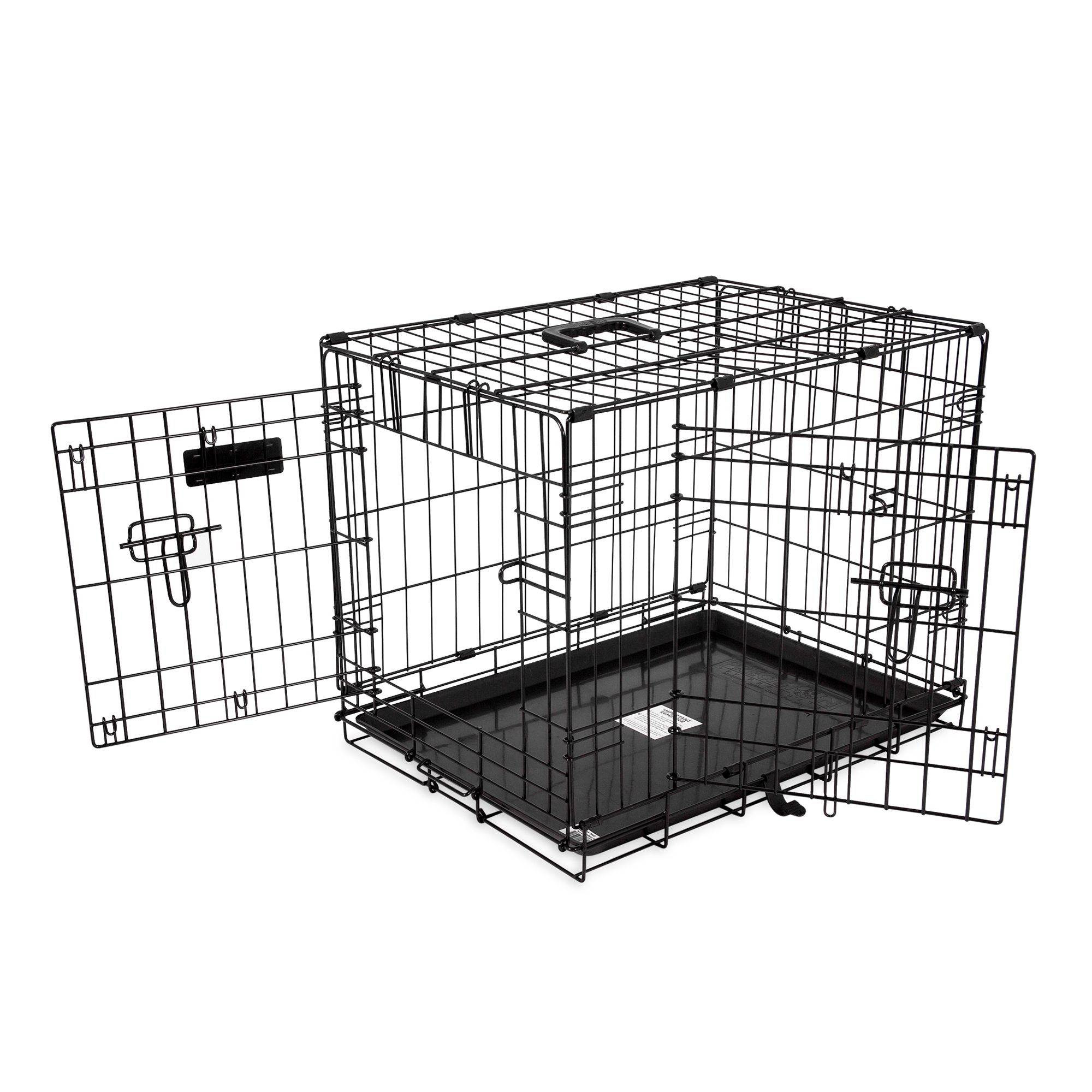 Precision Pet Provalu Two Door Dog Crate Size 30l X 19w X 21h Black