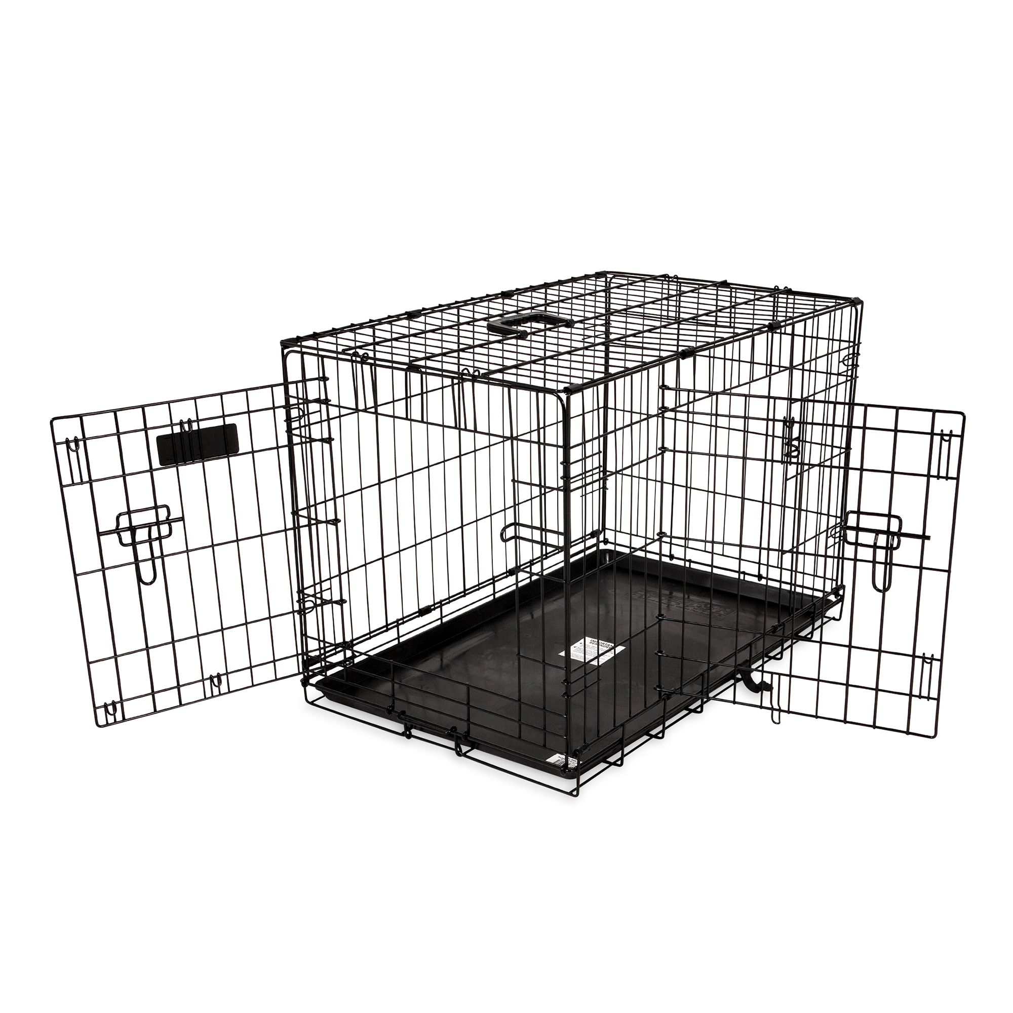 Precision Pet Provalu Two Door Dog Crate Size 24l X 18w X 19h Black