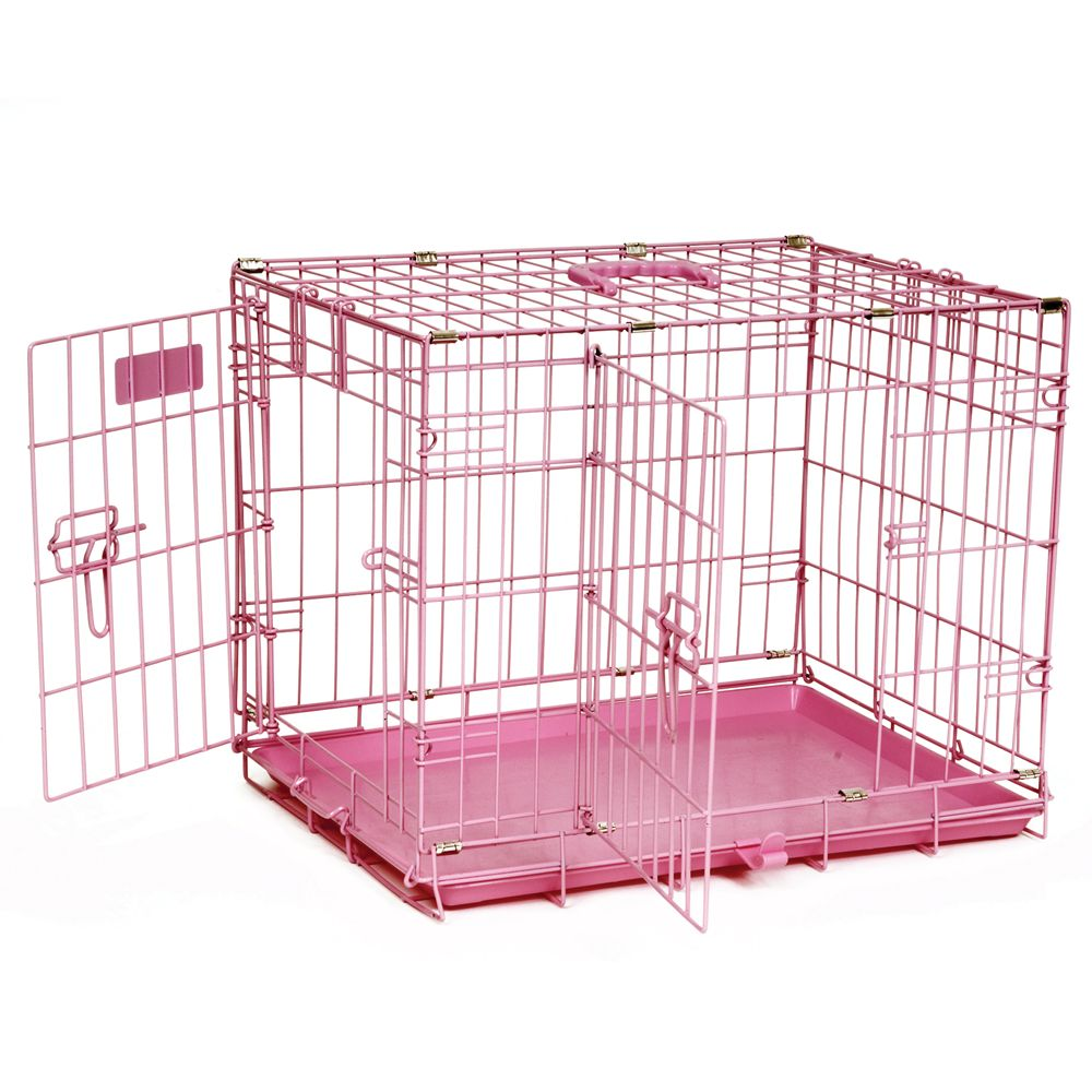 "Precision Pet ProValu Two-Door Dog Crate size: 24""L x 18""W x"