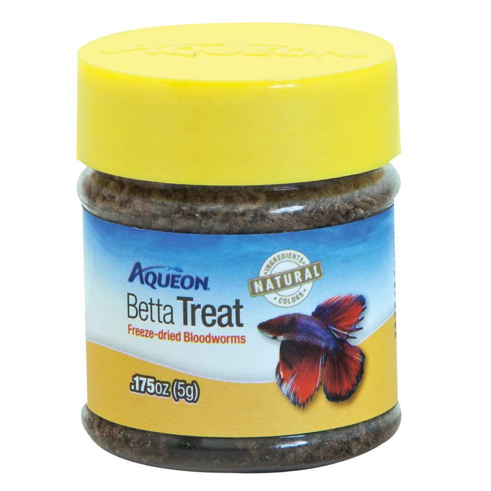 Aqueon Betta Treat Freeze Dried Bloodworms Fish Treat