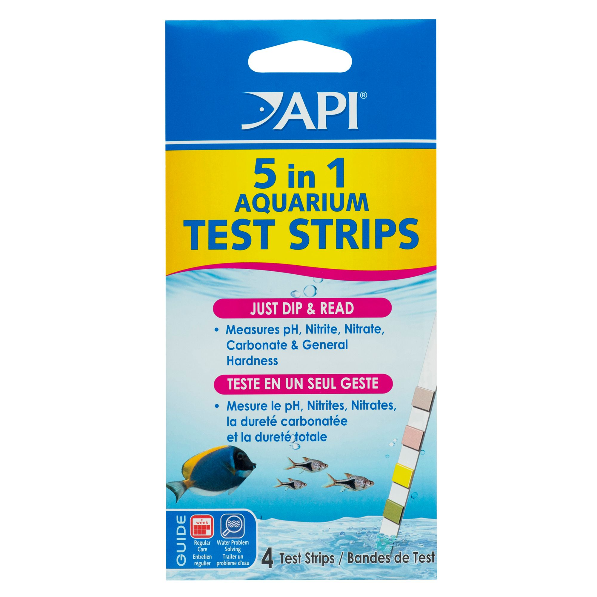 Api 5 In 1 Aquarium Test Strips Size 4 Count
