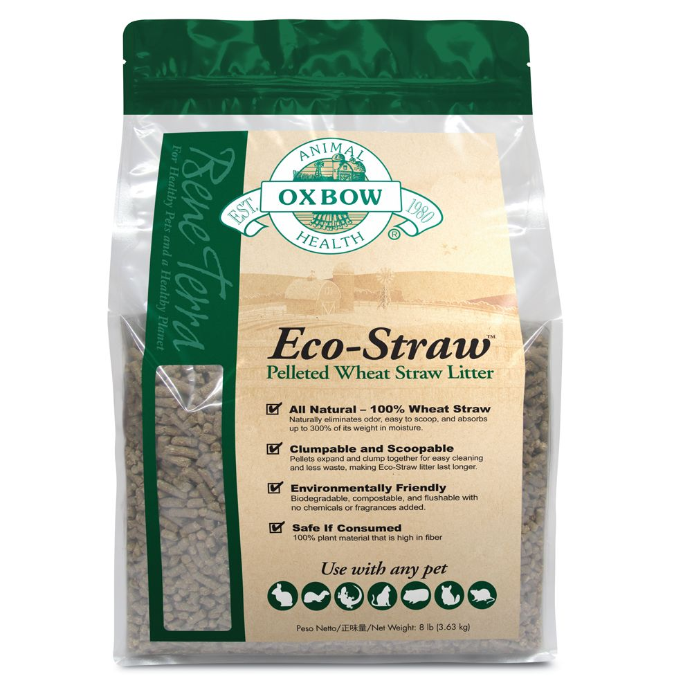 Oxbow Eco Straw Pelleted Wheat Straw Small Animal Litter Size 8 Lb Tan