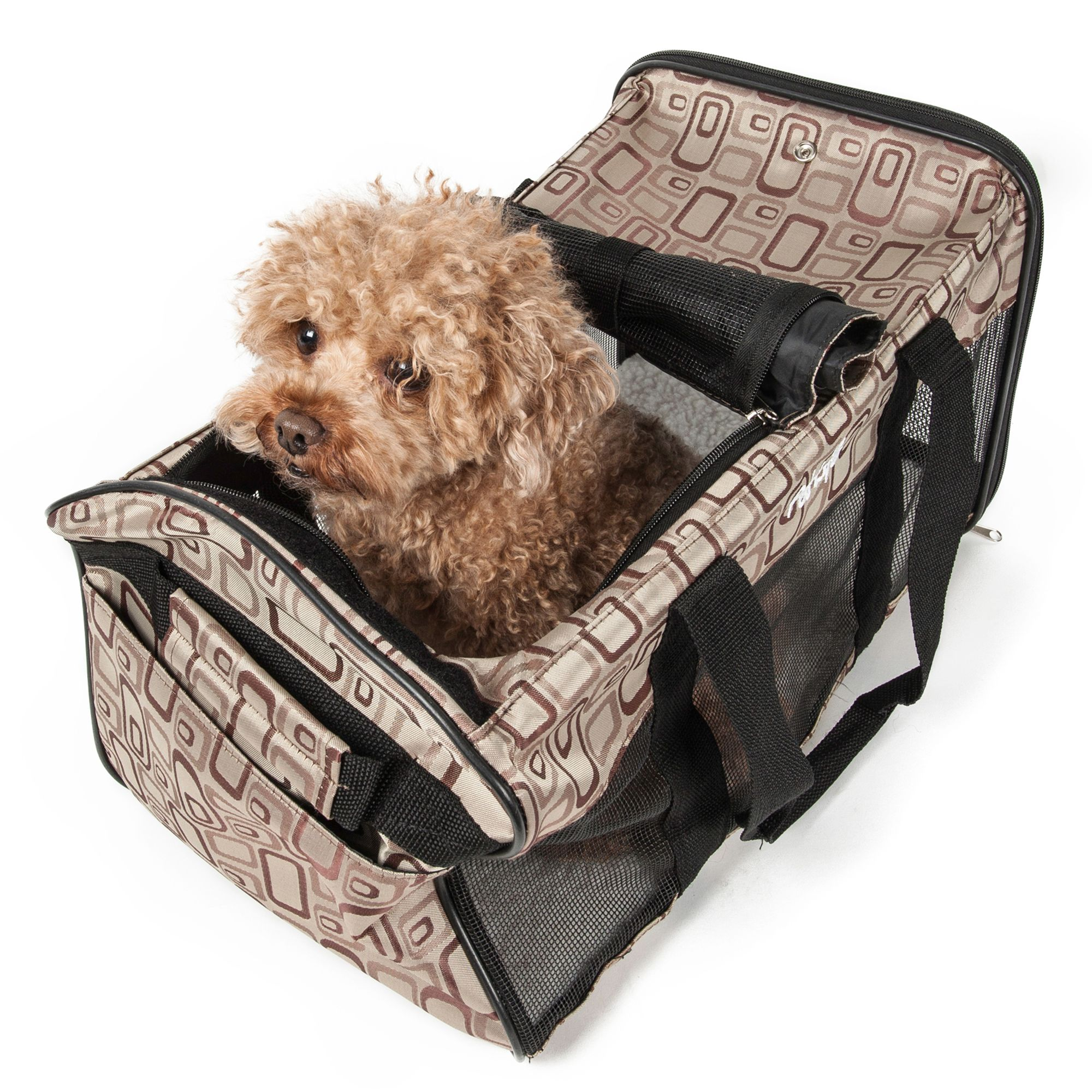 Pet Life Airline Approved Casual Pet Carrier Size 18.9l X 11w X 11h Plaid