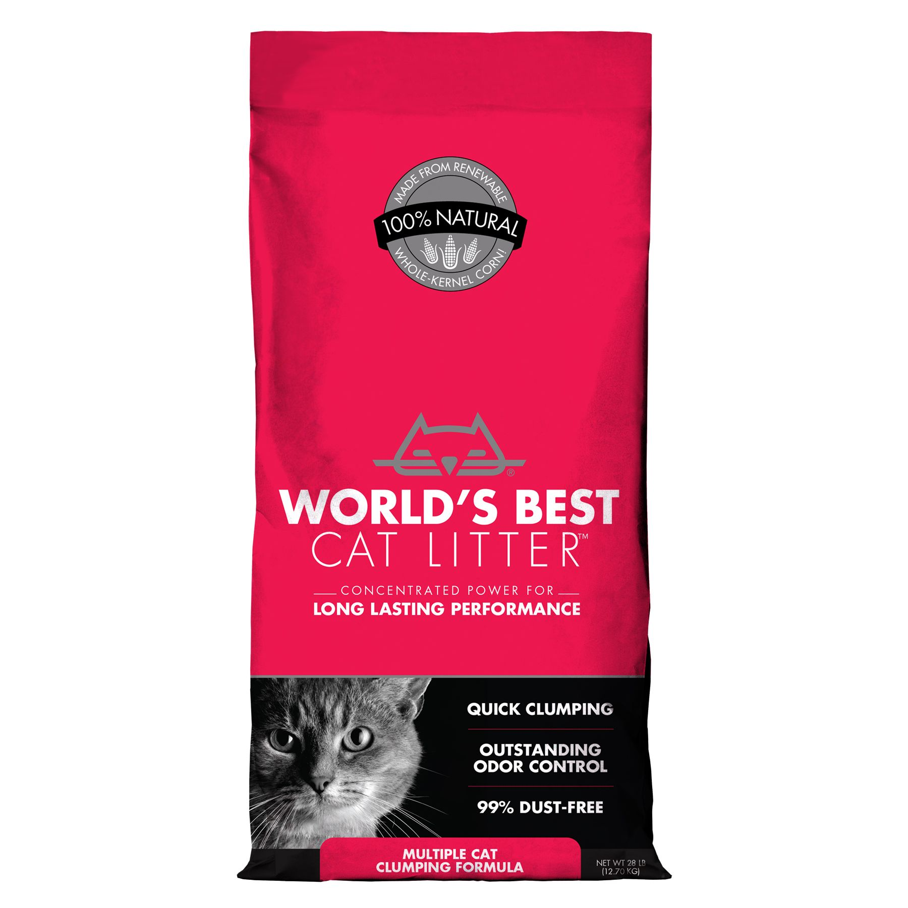 World's Best Cat Litter - Clumping, Multiple Cat size: 28 Lb