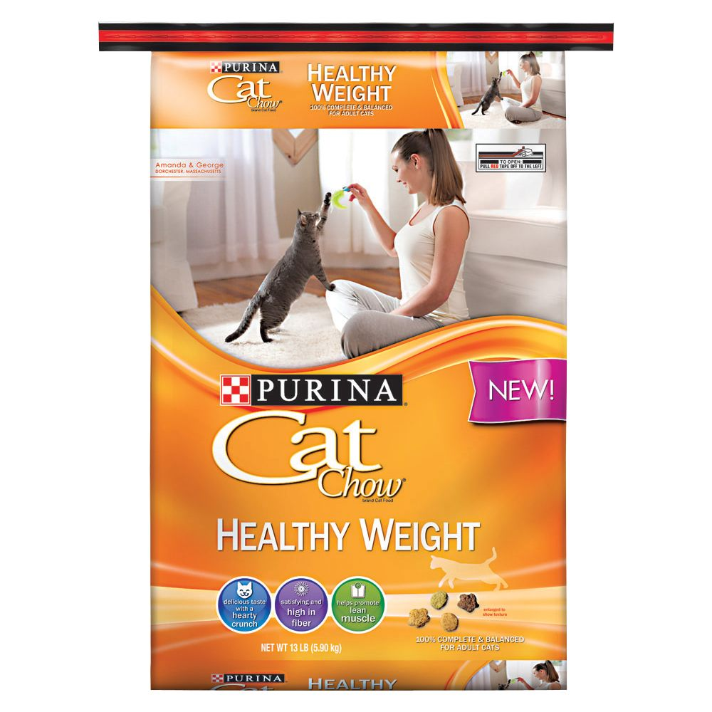 Purina Cat Chow Healthy Weight Adult Cat Food Size 13 Lb
