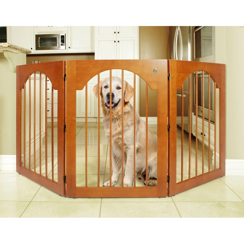"Majestic Pet Freestanding Wood Pet Gate size: 78""L x 0.75""W x 36""H"
