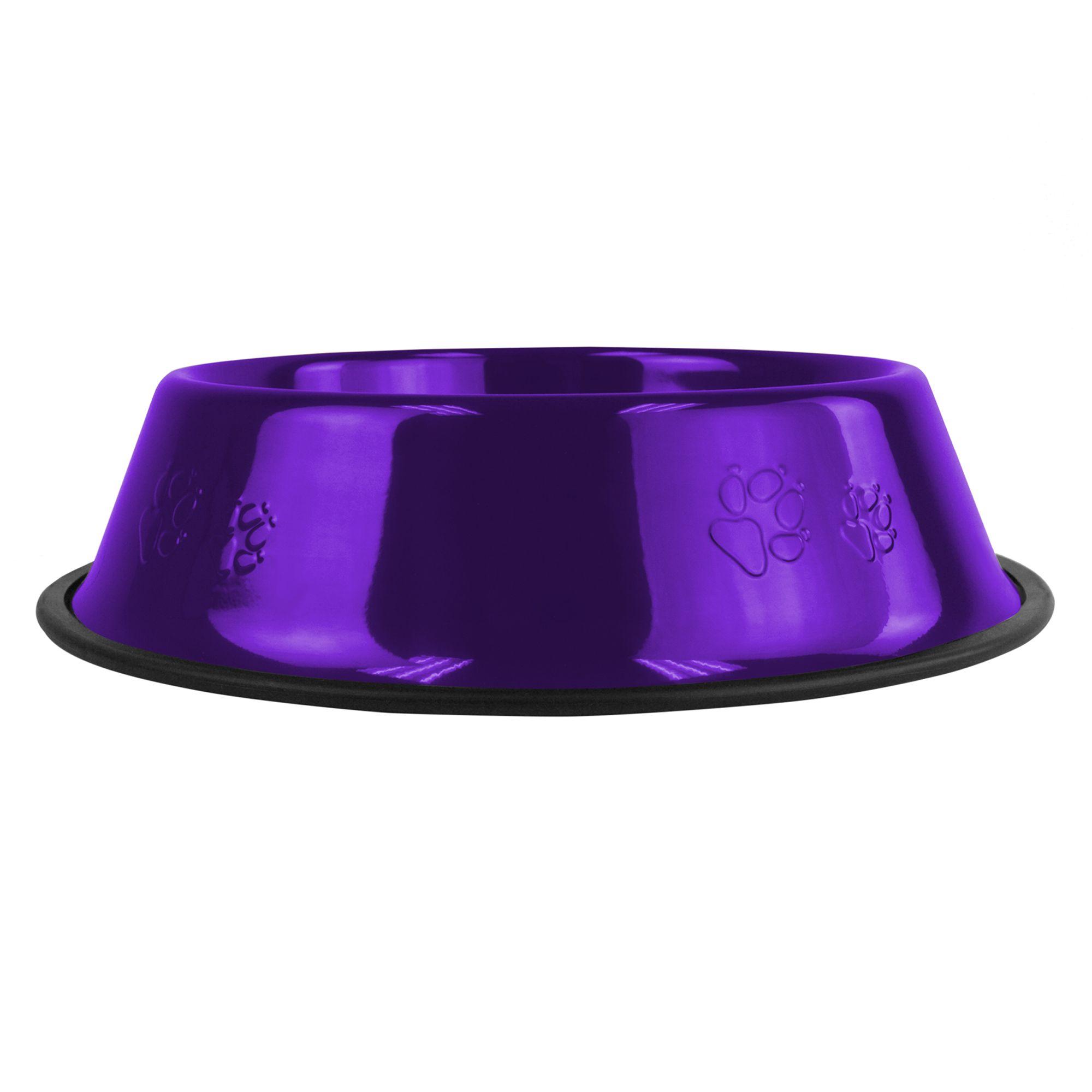 Platinum Pets Non-Tip Dog Bowl size: 80 Oz, Electric Purple 5179280