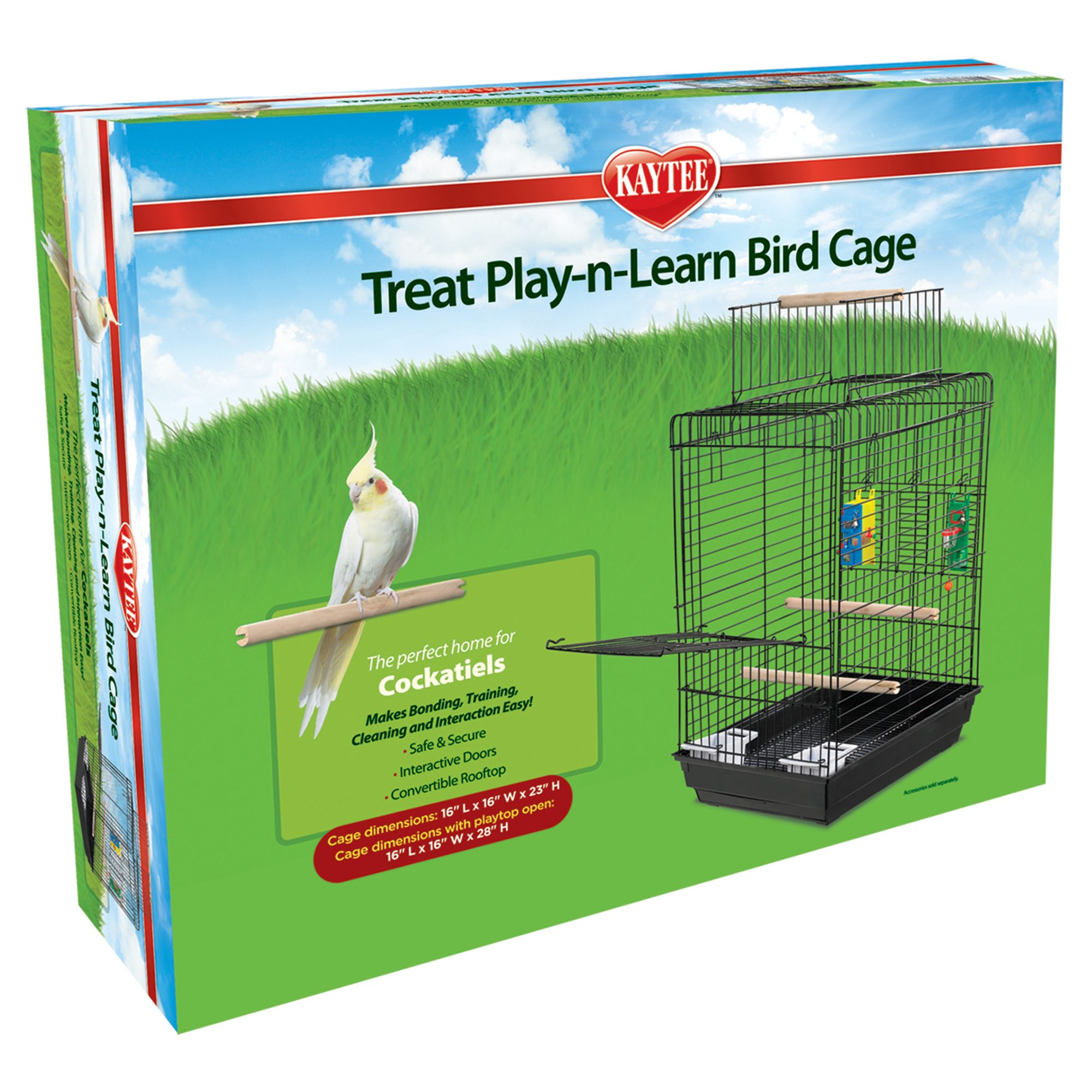 Kaytee Treat Play-N-Learn Cockatiel Cage, Super Pet 5180250