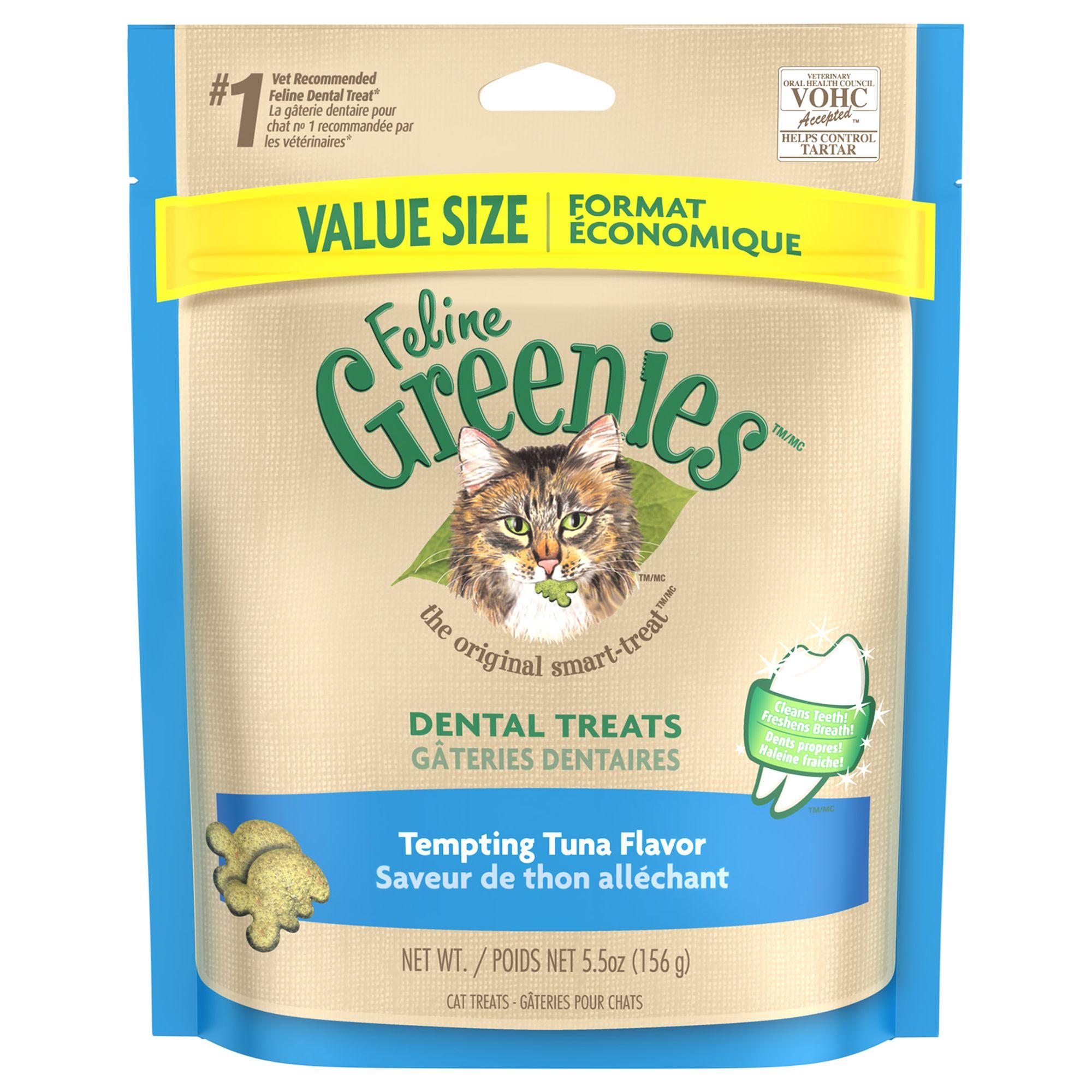 Feline Greenies Dental Cat Treat Tempting Tuna Size 5.5 Oz