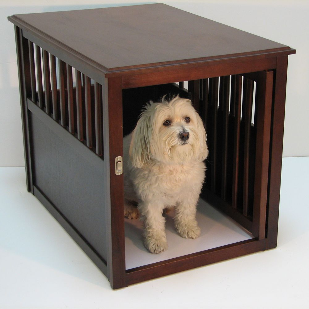 Crown Pet Crate Table Size 28l X 19w X 22h Brown
