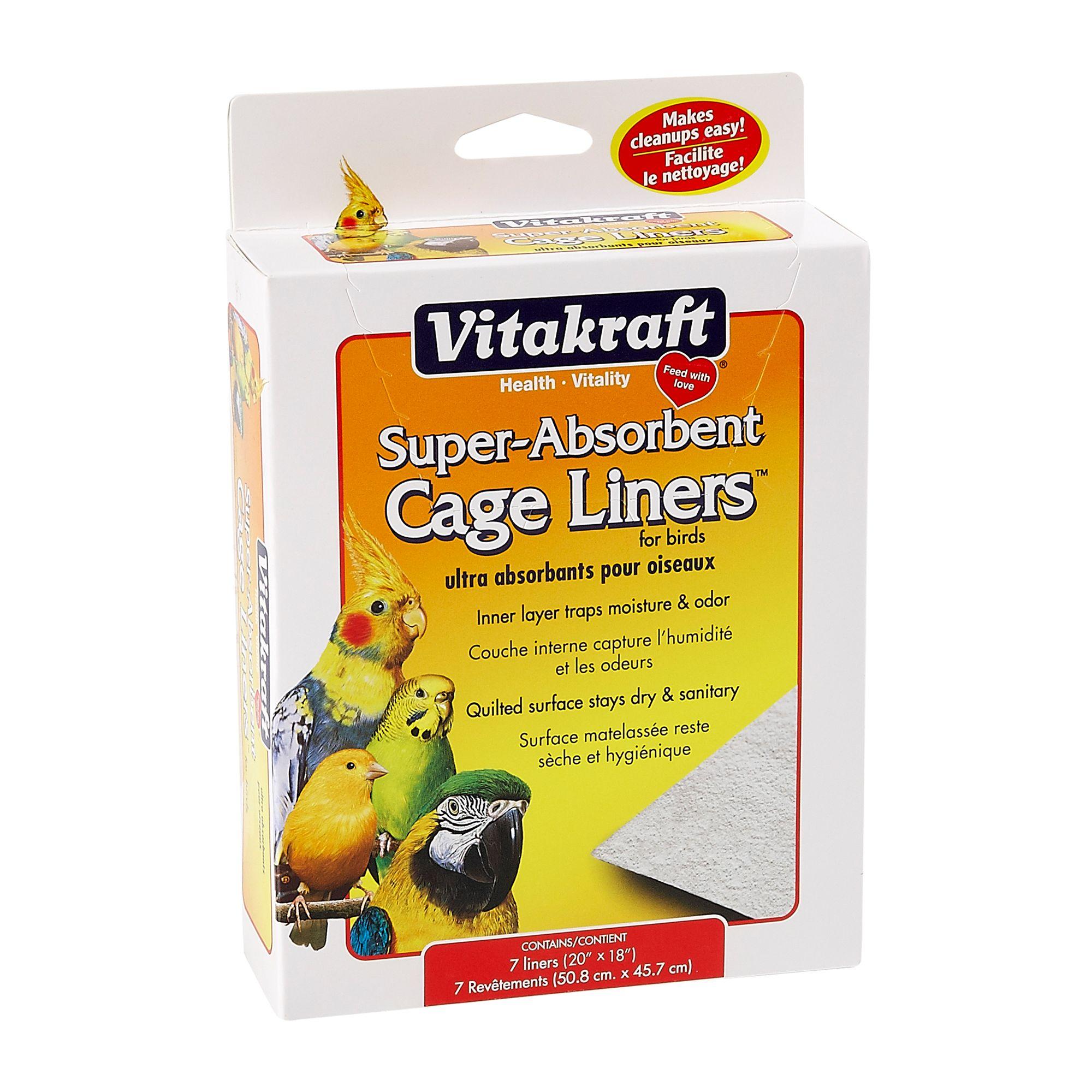 Vitakraft Super Absorbent Bird Cage Liners