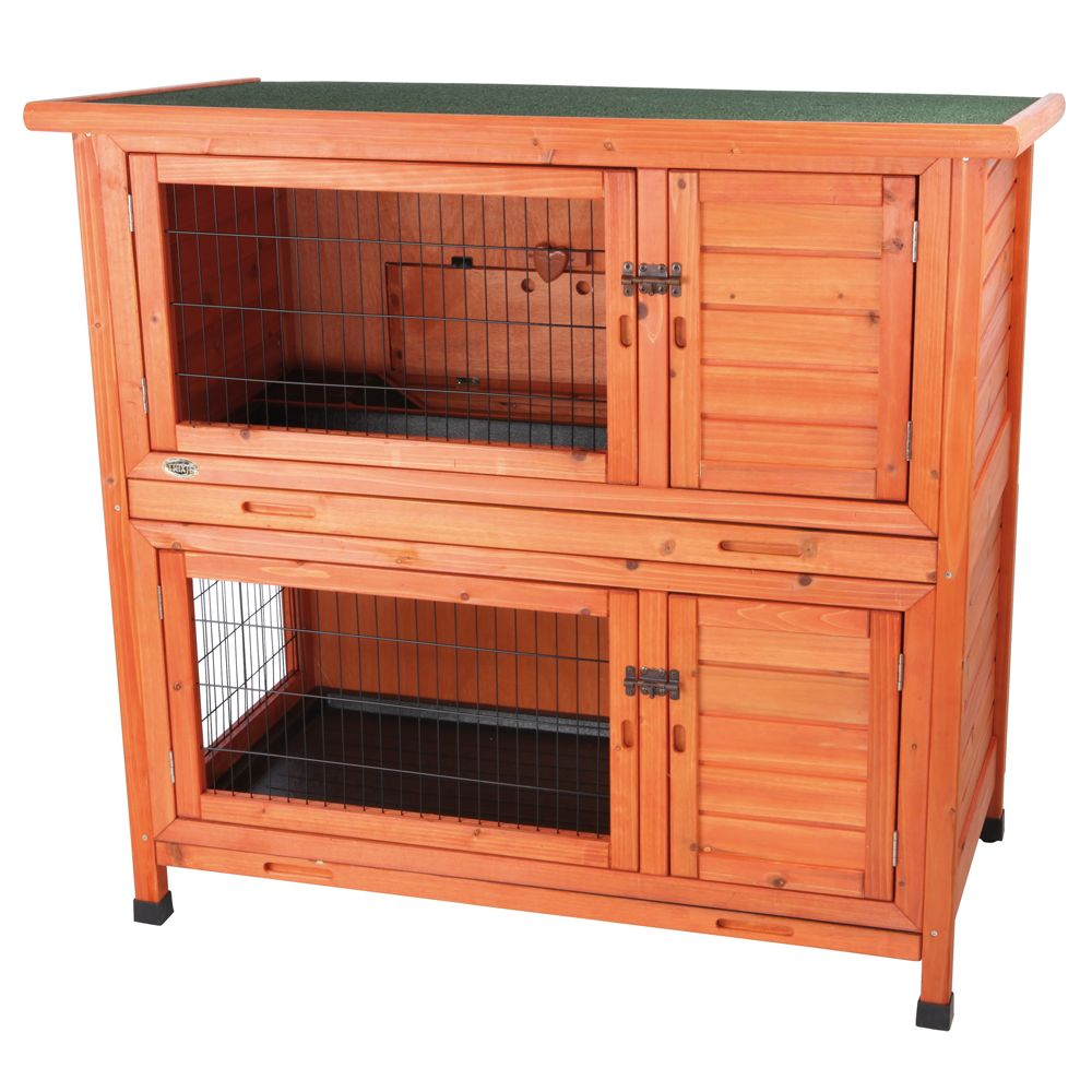 Trixie 2 In 1 Rabbit Hutch Glazed Pine