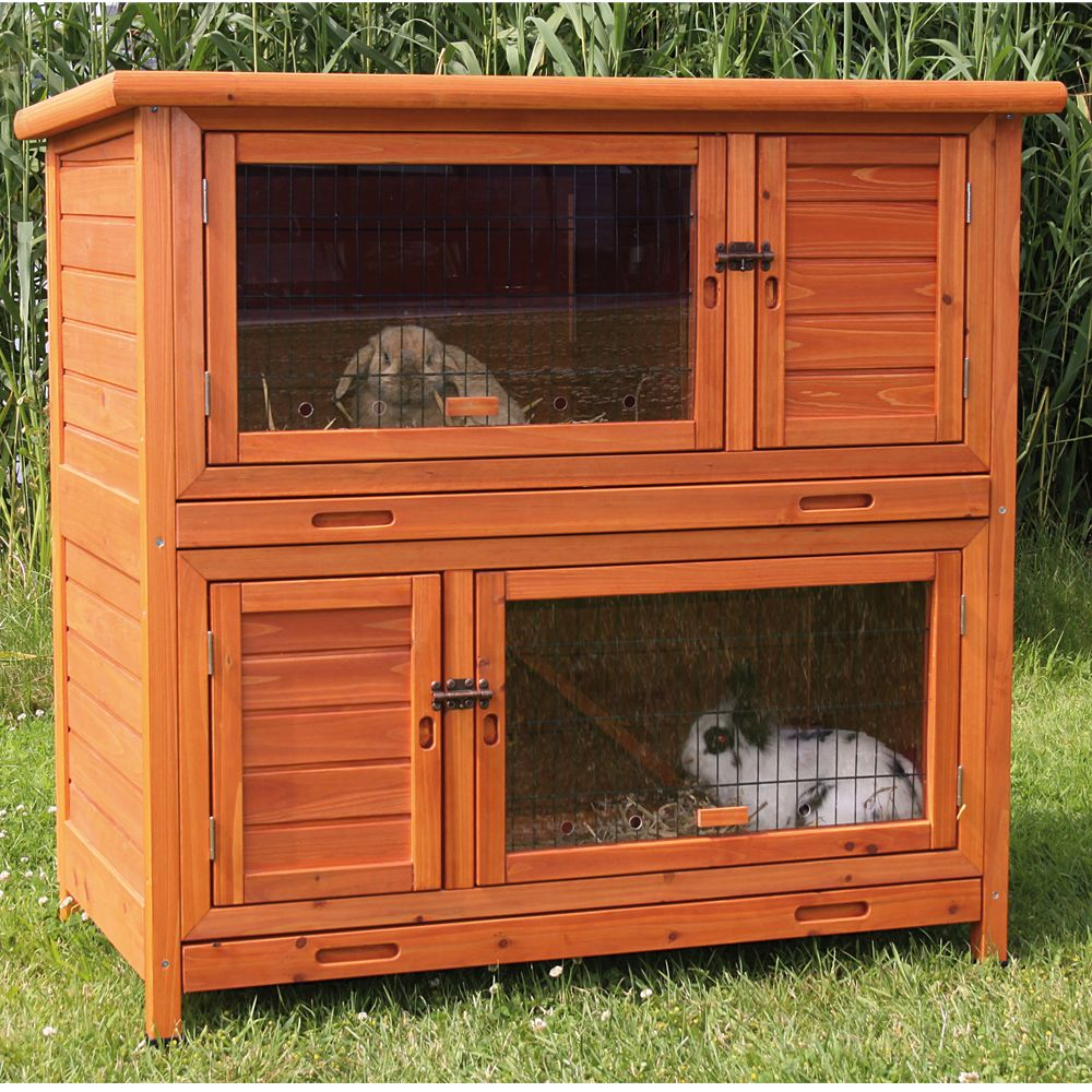 Trixie 2 In 1 Insulated Rabbit Hutch Glazed Pine