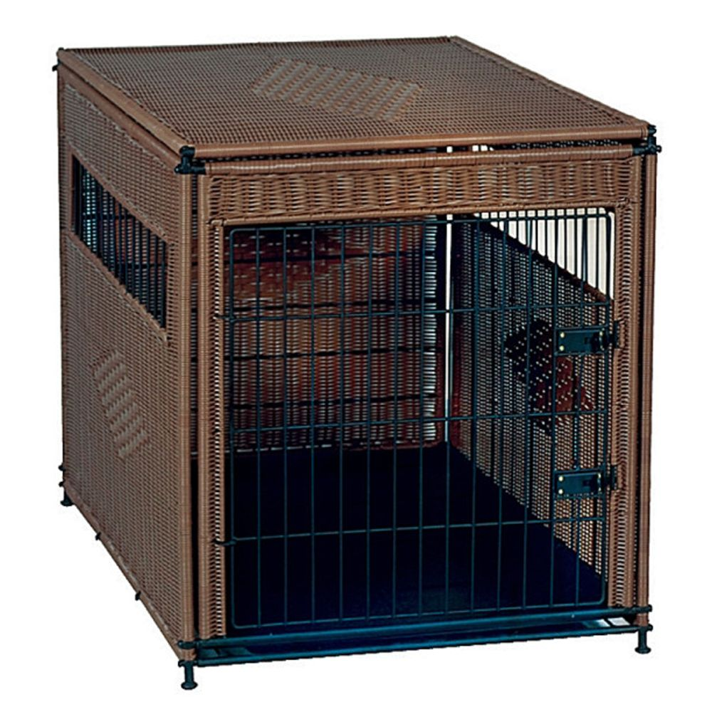 Mr. Herzhers Original Residence Dog Crate Size 24l X 18w X 21h Dark Brown Mr. Herzhers