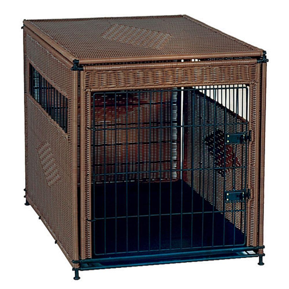 Mr. Herzhers Original Residence Dog Crate Size 36l X 24w X 27h Dark Brown Mr. Herzhers