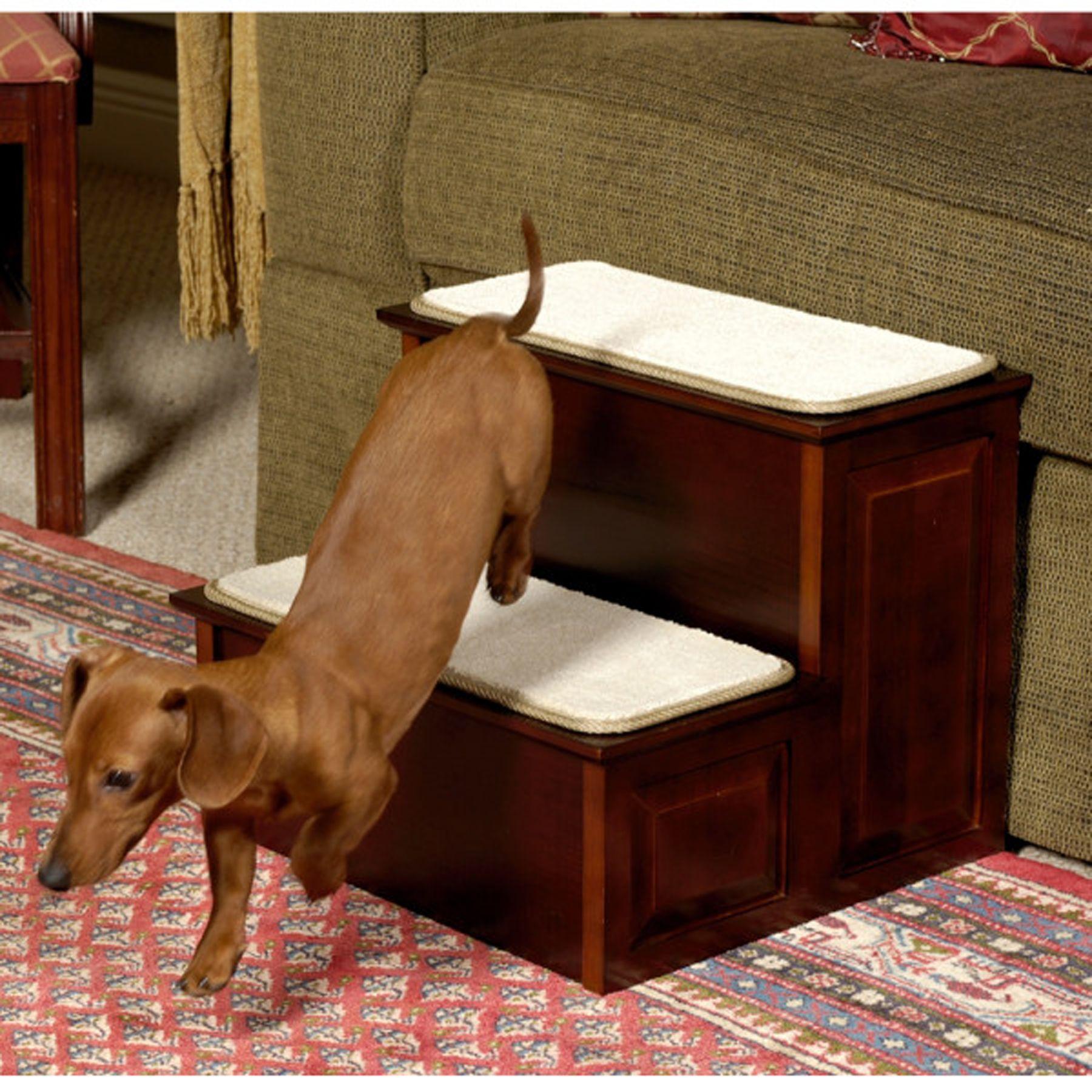 Mr. Herzhers Decorative 2 Step Pet Step Size 16l X 17w X 14h Red Mr. Herzhers