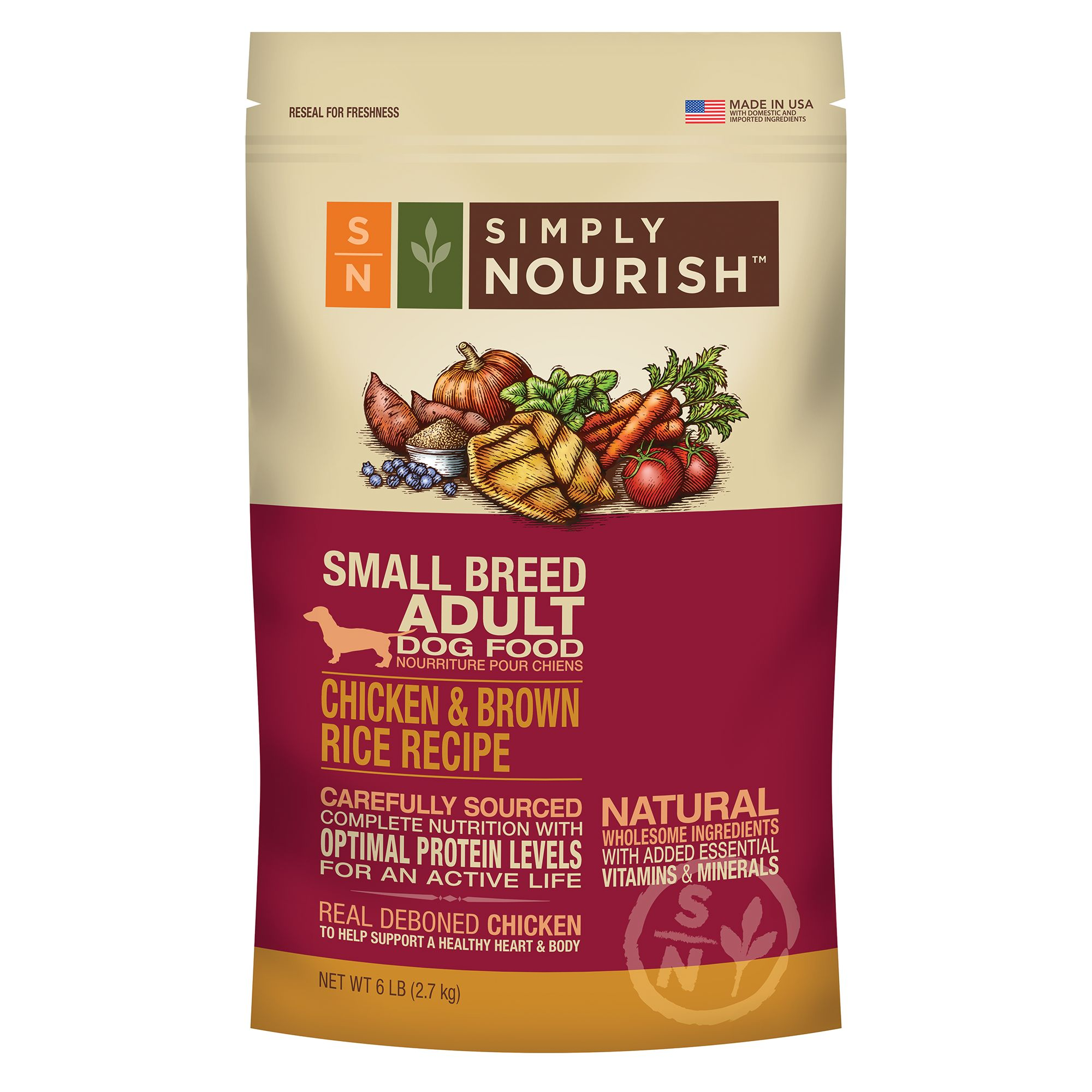 Simply Nourish Lamb And Oatmeal Dog Food Ingredients