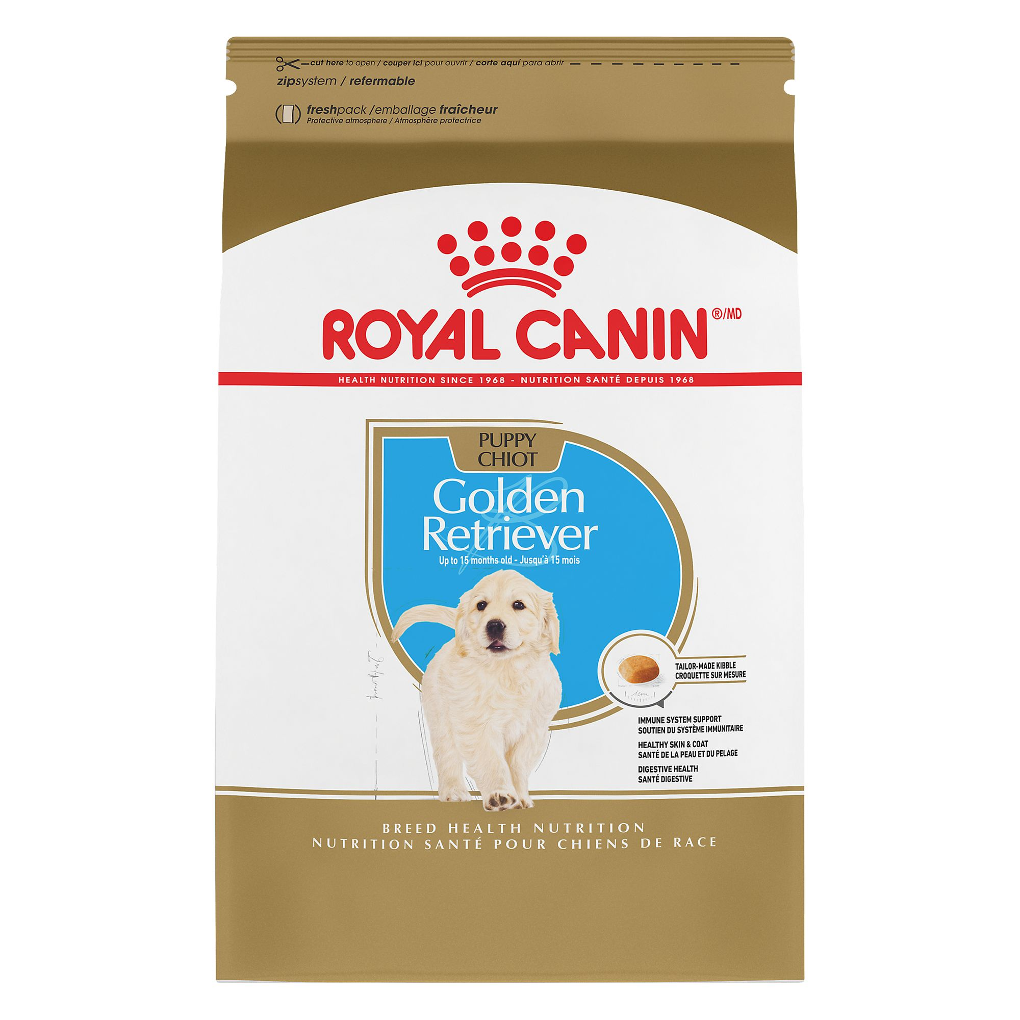 Royal Canin Breed Health Nutrition, Golden Retriever Puppy Food size: 30 Lb 5184508