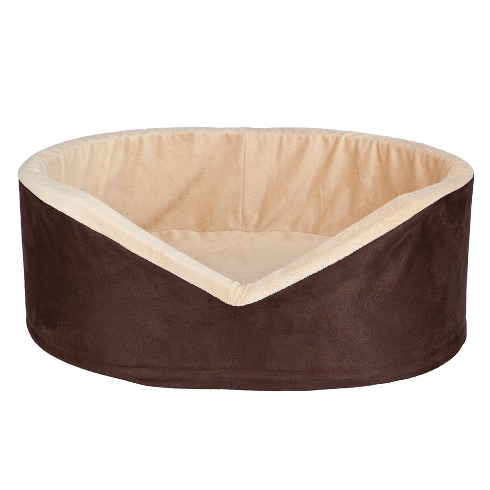 Sunbeam Heated Cuddler Pet Bed Size 18l X 23w Tan Brown