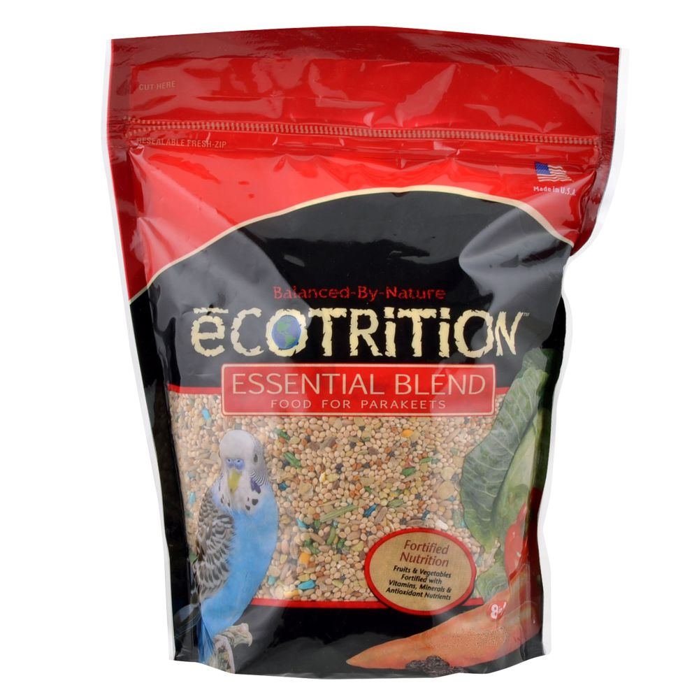 Ecotrition Esential Blend Parakeet Bird Food Size 5 Lb