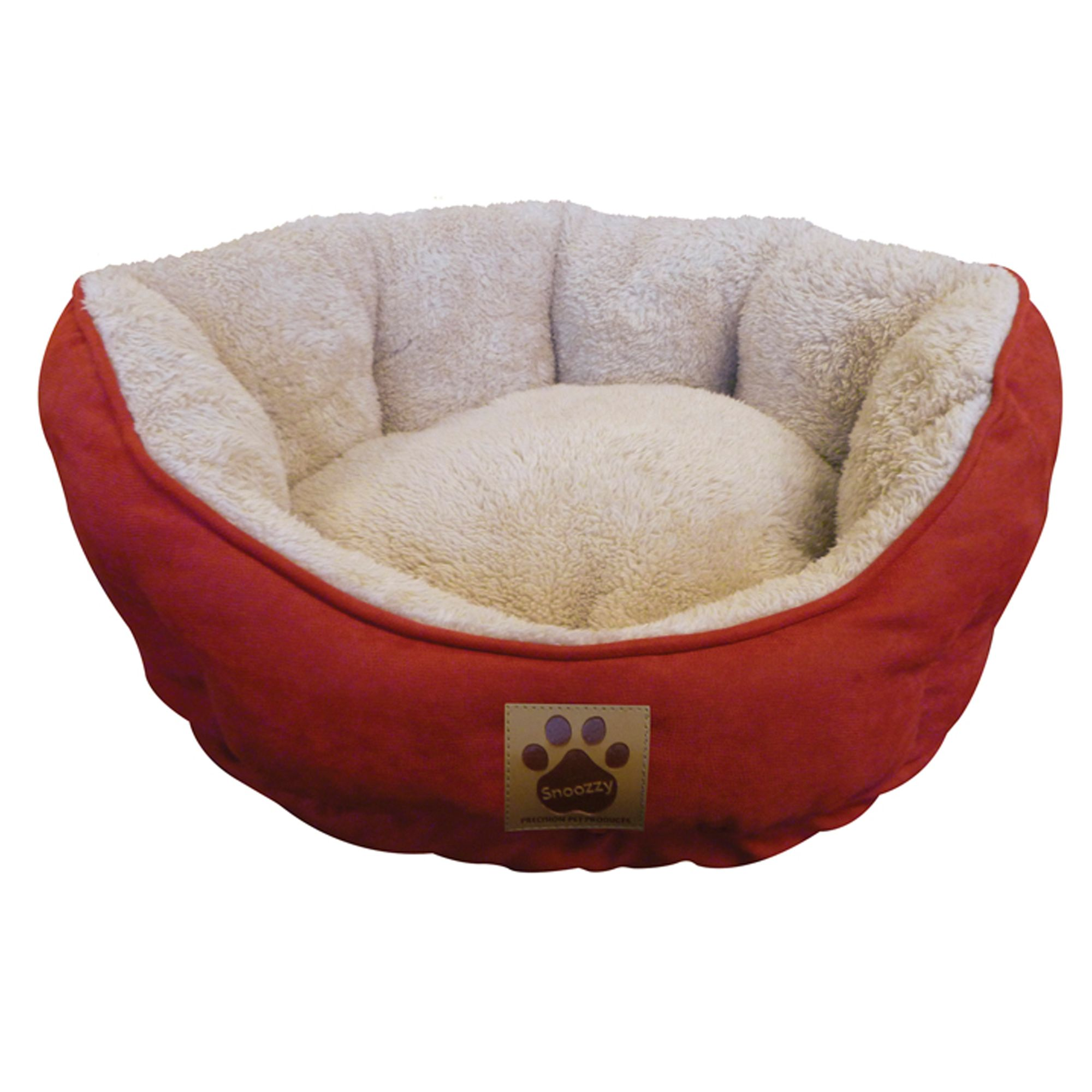 Precision Pet Clamshell Cuddler Pet Bed Size 19l X 17w X 9h Red