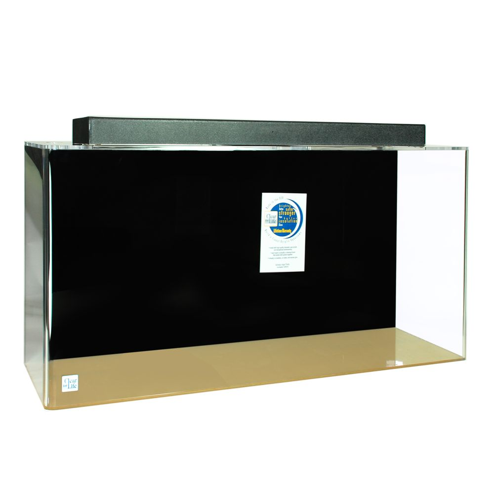 Clear for life 180 gallon rectangle aquarium size 180 gal for 90 gallon fish tank dimensions